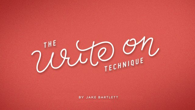 The Write On Technique Hand Lettering In Motion
