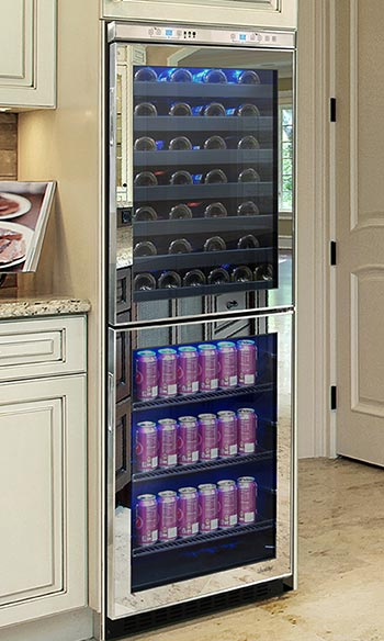 Mirrored Wine Coolers The Latest Wine Refrigerator Trend