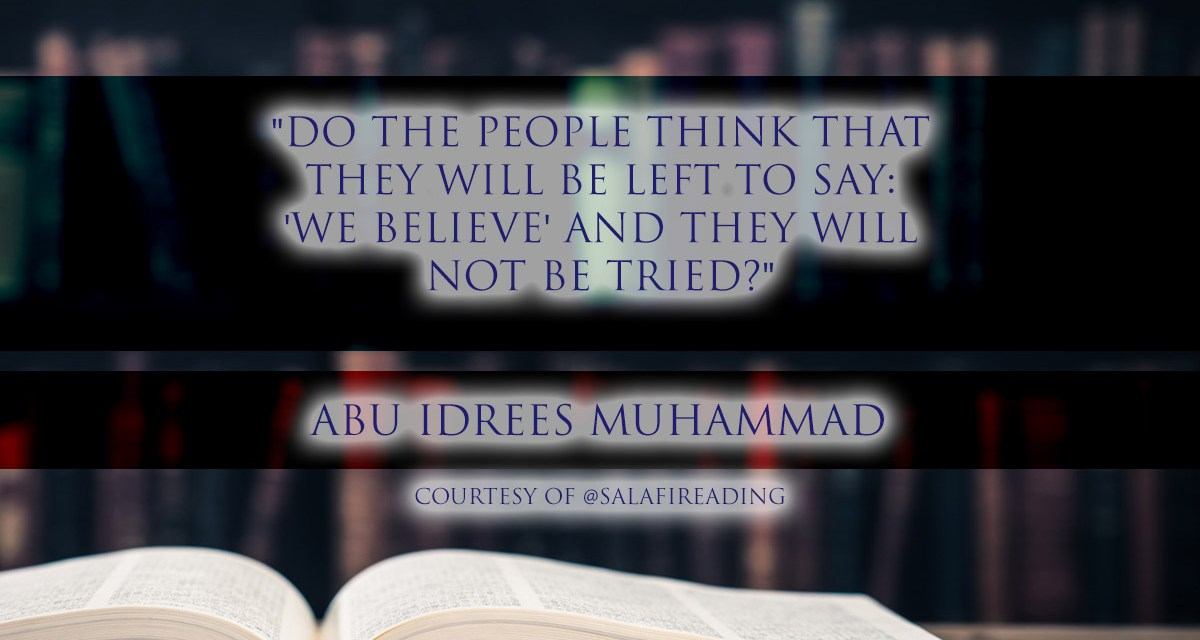 """Do the people think that they will be left to say: 'We Believe' and they will not be tried?"" 