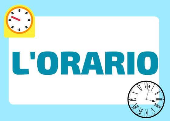 dire l'orario in italiano