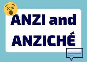 anzi or anziché Italian
