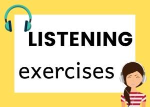 Italian listening exercises