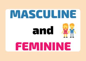 Italian masculine and feminine