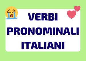 verbi pronominali italiani