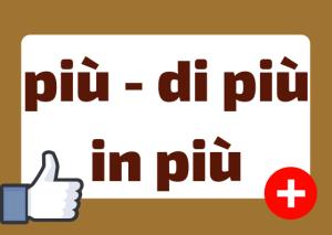 come usare più in italiano