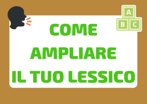 ampliare lessico in italiano