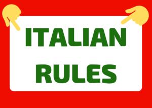 italian social rules