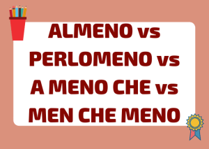 Almeno vs perlomeno Italian