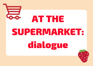 italian dialogue supermarket