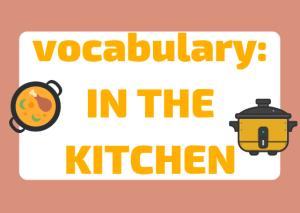 Italian vocabulary kitchen