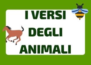 gli animali e i versi italiano