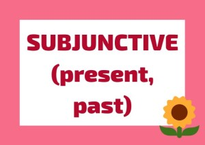 subjunctive present past Italian