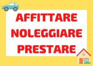 affittare noleggiare prestare italiano