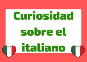 curiosidades lengua italiana