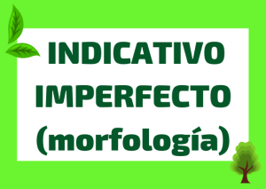 imperfetto indicativo morfologia italiano