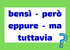 conjunciones adversativas italiano