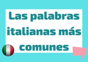 palabras italianas comunes