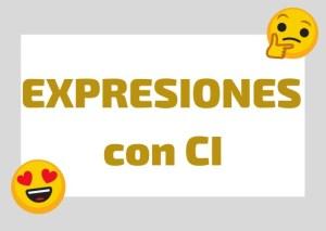 expresiones italianas con ci