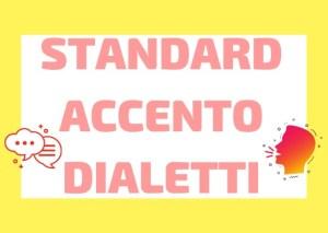 italiano standard e dialetti