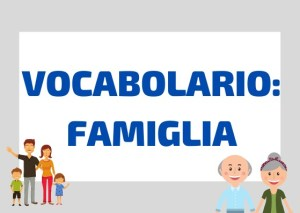 vocabolario famiglia italiano