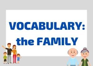 family vocabulary Italian