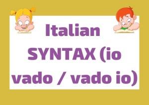 Italian syntax - word order