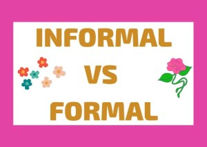 informal vs formal italiano