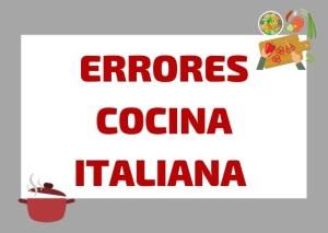 errores cocina italiana