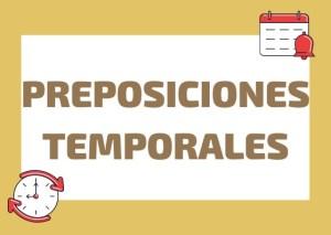 preposiciones temporales italiano