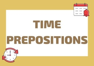 time prepositions Italian