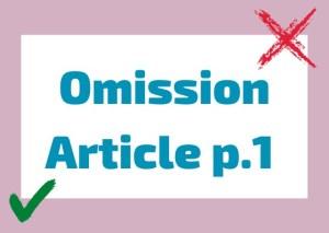 omission article italian