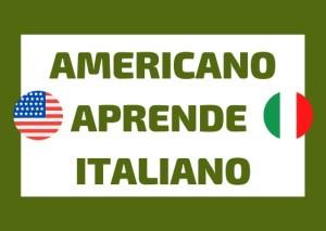americano aprende italiano