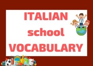 Italian school vocabulary