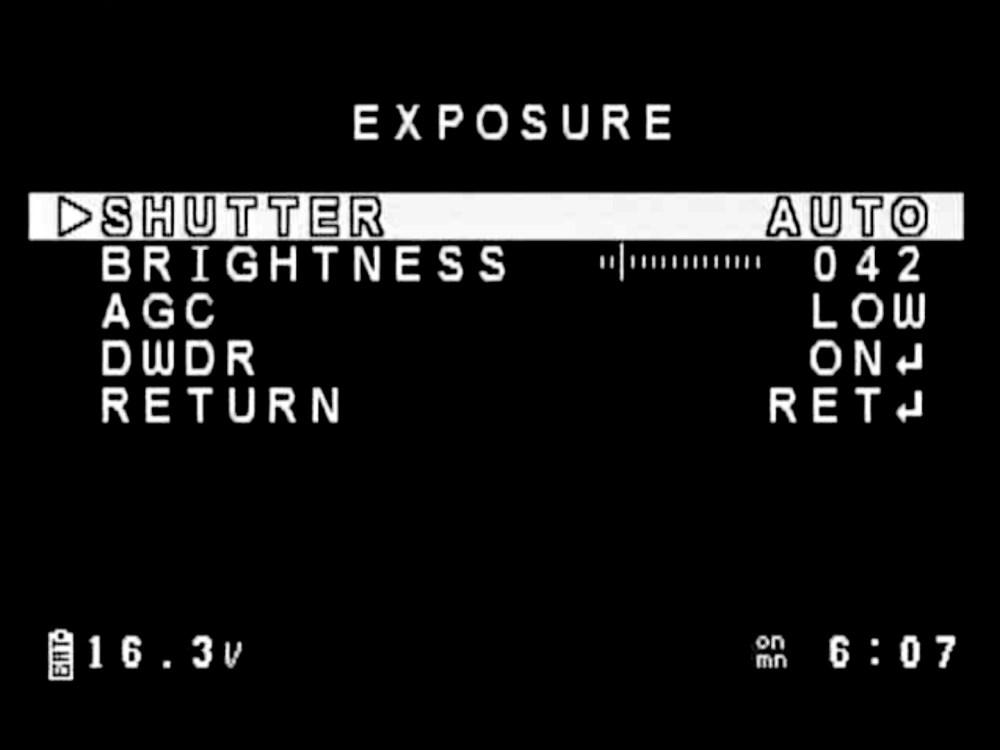 medium resolution of fpv camera settings exposure menu nested level