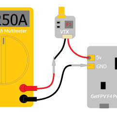Fpv Transmitter Wiring Diagram 2003 Ezgo Wire Performing Drone Electrical Checks Getfpv Learn As Shown In The Below Multimeter Is Placed Series With Video Vtx And 5v Pads On Fc Used Mostly For