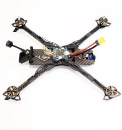 raggio lungo falcon multirotors carbon fiber frame arm brace tpu 3d printed gopro mount wedge tmotor [ 1280 x 960 Pixel ]