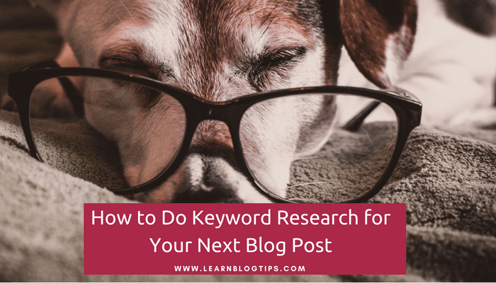 how to do keyword research for blog posts
