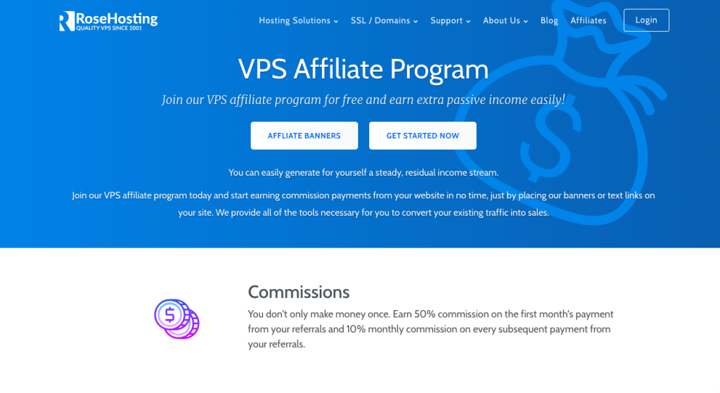 rose hosting affiliate program for bloggers