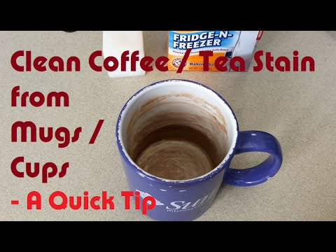Clean Coffee and Tea Stain from Mugs / Cups – A LearnByBlogging Quick Tip