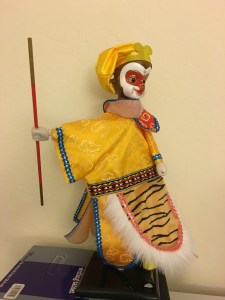 My favorite Monkey King Puppet on my desk