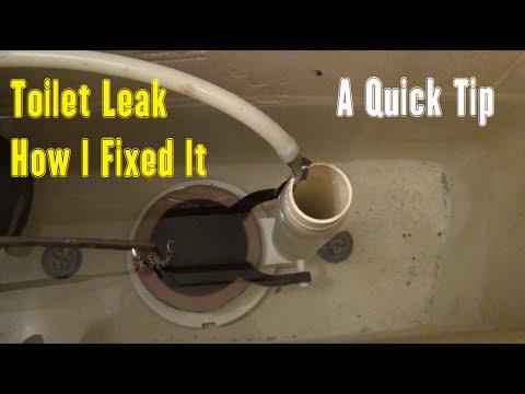 Toilet Leak – How I Fixed It – A Quick Tip