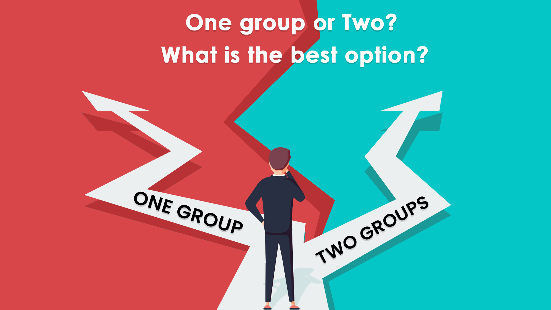 How do I decide whether to attempt one group or two groups when pursuing the CA course