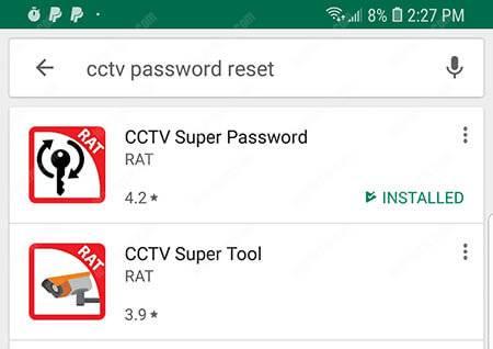 Ứng dụng đặt lại mật khẩu siêu cấp CCTV