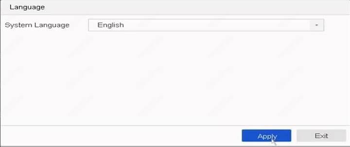 Thiết lập ngôn ngữ NVR của Hikvision