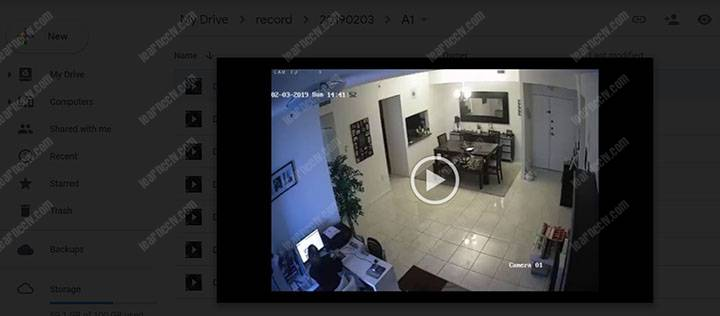 Phát lại video trực tiếp trên Google Drive