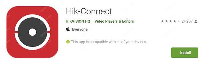 Cài đặt ứng dụng Hik-connect