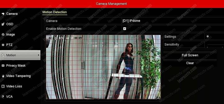 Cấu hình phát hiện chuyển động camera NVR của Hikvision