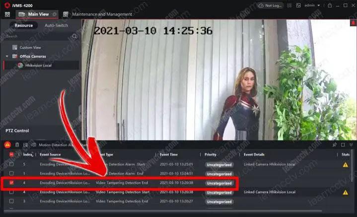 Cảnh báo giả mạo video Hikviison iVMS-4200
