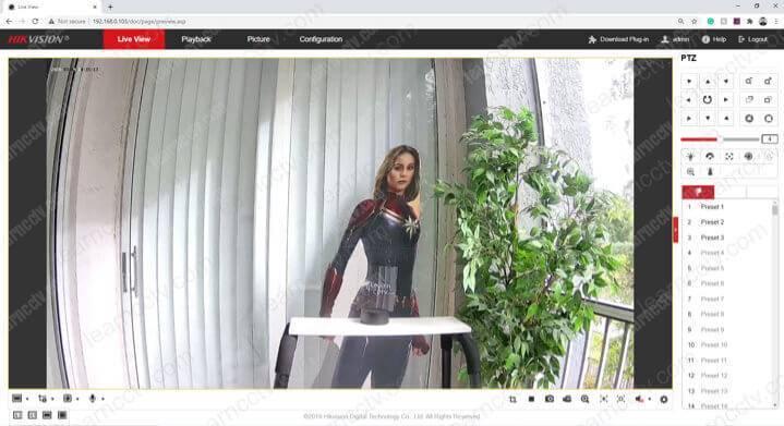 Camera Hikvision qua trình duyệt web