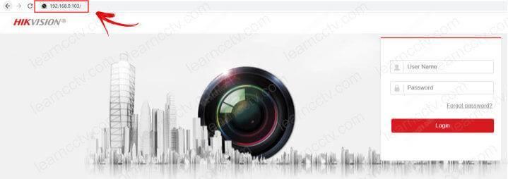 Giao diện đăng nhập camera Hikvision